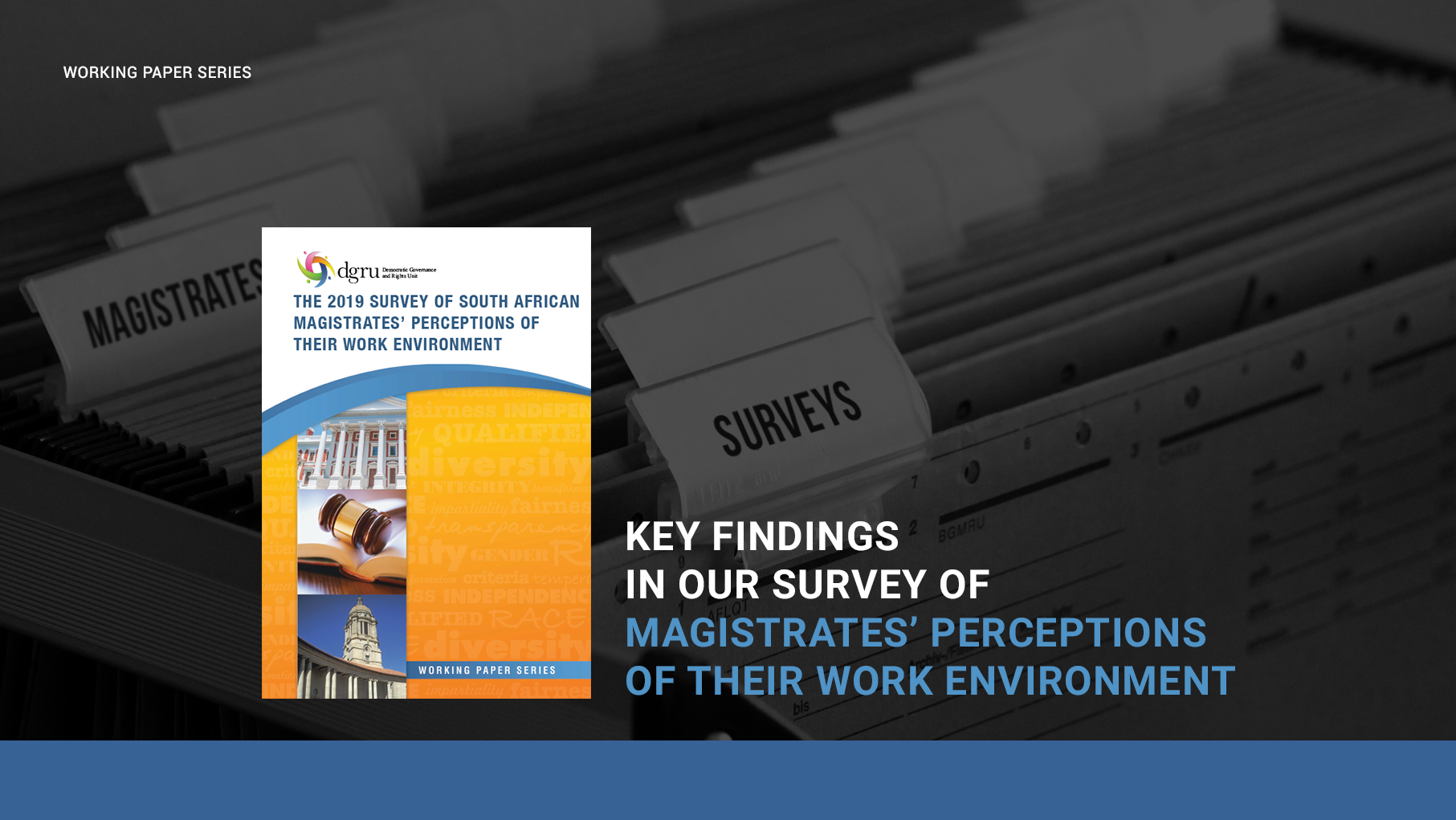 Key findings Magistrates' survey