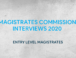 Magistrates Commission interviews 2020